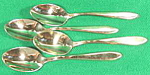 Flatware~ Dirilyte Regal Teaspoons ~ Set of 4