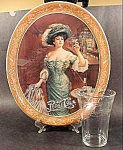 Click here to enlarge image and see more about item B793: Pepsi-Cola Serving Tray with 6 Glasses - 1970s