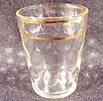 Click here to enlarge image and see more about item B794: Barware ~ Shot Glass ~ Dot Optic Pattern~ Vintage