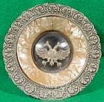 Click here to enlarge image and see more about item B7: Antique Placque - Two Headed Eagle