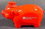 Click here to enlarge image and see more about item B812: Advertising ~ Piggy Bank ~ Harvard Community Health