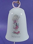 Click here to enlarge image and see more about item B822: Bell ~ Precious Moments ~ September ~ Porcelain