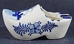 Click here to enlarge image and see more about item B835: Ashtray ~ Hand Painted Clog Shoe ~ Windmill