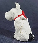 Click here to enlarge image and see more about item B836: Figurine - Dog with Bow - Vintage
