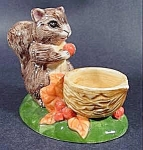 Click here to enlarge image and see more about item B839: Squirrel Figurine with Nut Cup - Ceramic