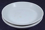 Click here to enlarge image and see more about item B844: Butter Pats Pair - White China