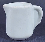 Click here to enlarge image and see more about item B845: Restaurant Ironstone Individual Creamer - White