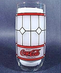 Click here to enlarge image and see more about item B856: Coca-Cola Coke Glass ~ Lead Window Style ~ 1970s