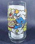 Baker Smurf Character Glass by Libby - 1983 Hardee's