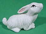 Click here to enlarge image and see more about item B881: Bunny Rabbit Ceramic Figurine