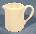 Click here to enlarge image and see more about item B885: Individual Creamer - White Porcelain