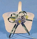 Click here to enlarge image and see more about item B889: Frosted Art Glass Miniature Basket