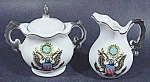 Click here to enlarge image and see more about item B894: Bicentennial Cream and Sugar Set ~ kitchen Collectibles