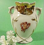 Porcelain Cherub Vase with Gold Trim ~ Vintage