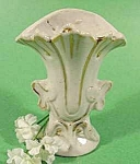 Miniature Victorian Vase ~ Gold Trim