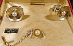 Click here to enlarge image and see more about item B922s: Cuff Link and Tie Pin Set - Gold Filled - Original Box