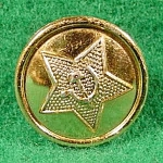 Click here to enlarge image and see more about item B931: Soviet USSR Army Button with Star and Crest ~ Military