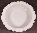 Milk Glass Ashtray ~ Anchor Hocking