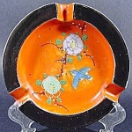 Click here to enlarge image and see more about item B947: Ashtray ~ Porcelain Moriage ~ Japan ~ Vintage