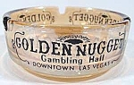 Golden Nugget Gambling Hall Glass Ashtray ~ Las Vegas