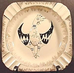 Chicken Rooster Ashtray ~ Square ~ Ceramic
