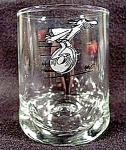 Click here to enlarge image and see more about item B986: B. C. Ice Age Glass Tumbler - Signed Hart 1981 - THOR