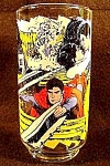 Click here to enlarge image and see more about item C108: Superman Glass - Caped Wonder To The Rescue - 1978