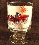 Click here to enlarge image and see more about item C134: Budweiser Champion Clydesdales Pedestal Beer Glass