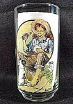 Click here to enlarge image and see more about item C138: Norman Rockwell Drinking Glass - Coca-Cola
