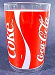 Click here to enlarge image and see more about item C157: Coca-Cola Coke Glass ~ Ribbon Design