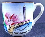 Click here to enlarge image and see more about item C170: Bone China Souvenir Miniature Cup - Washington D. C.