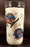 Click here to enlarge image and see more about item C177: Gonzo and Elephant Baby Muppet Character Glass - Kraft
