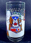 Click here to enlarge image and see more about item C179: St. Bernard Pepsi Glass ~ Christmas Issue 1992