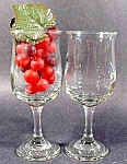 Click here to enlarge image and see more about item C193: Stemmed Wine Glasses - Pair