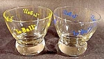 Click here to enlarge image and see more about item C194: Lo-Ball Bar Glasses ~ Pair
