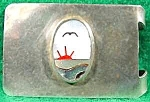 Click here to enlarge image and see more about item C1: Inlaid Mother of Pearl Money Clip - Mexico