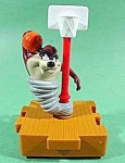 Click here to enlarge image and see more about item C212: TAZ Playing Basketball ~ Happy Meals Toy ~ 1996