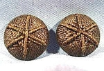 Star Pattern Crochet Pair of Black Buttons