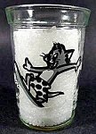 Tom & Jerry Drinking Glass - Tom Surfing - 1990