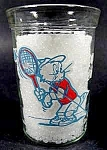 Tom & Jerry Drinking Glass - Playing Tennis - 1991