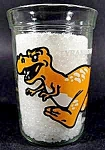 Click here to enlarge image and see more about item C247: Dinosauer Tyrannosaurus Rex Glass - Welch's 1990