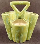 Click here to enlarge image and see more about item C287: Green Ceramic Flower Vase Planter