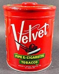 Click here to enlarge image and see more about item C290: Velvet Tobacco Tin - 14 oz Size