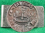 Click here to enlarge image and see more about item C2: Las Vegas Souvenir Money Clip - Vintage