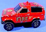 Click here to enlarge image and see more about item C310: Majorette Diecast Fire Rescue F.D.N.Y. 55 ~ Sonic Flash