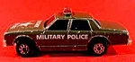 Click here to enlarge image and see more about item C314: Majorette Diecast Military Police Car ~ Sonic Flasher