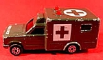 Click here to enlarge image and see more about item C315: Majorette Diecast Military Ambulance ~ Sonic Flasher