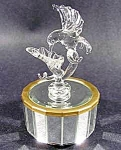 Click here to enlarge image and see more about item C334: Hummingbird Mirrored Music Box - Japan