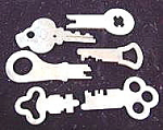 Click here to enlarge image and see more about item C35: Lot of Vintage Keys ~ 6 Pieces