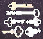 Click here to enlarge image and see more about item C36: Lot of Vintage Keys ~ 6 Pieces ~ Lot #1